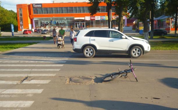 В Новомосковске 12-летний велосипедист попал под колёса иномарки