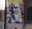 В «Ликерке Лофт» появилось граффити-портрет Льва Толстого