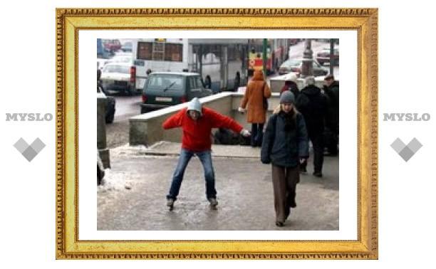 Улицы Тулы превратились в каток