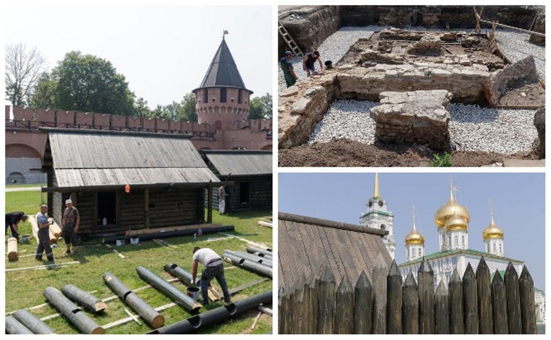 В Тульском кремле строят осадные дворы и «археологическое окно»