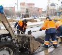В Туле на улице Каминского ремонтируют дорогу