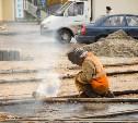 На улице Марата продолжается ремонт трамвайных путей