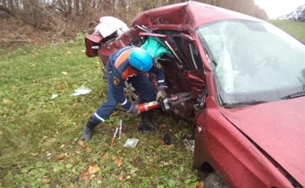 В тройном ДТП в Щёкинском районе погибла пассажирка «Фольксвагена»