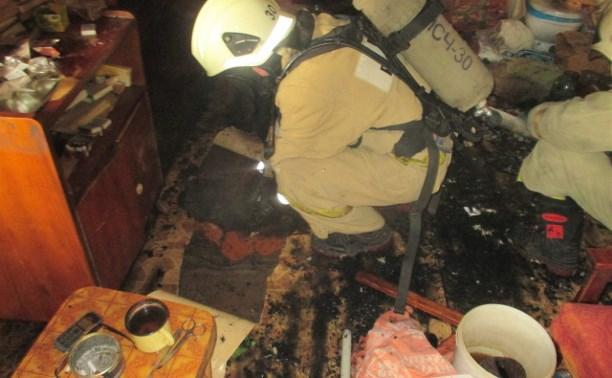 В Узловой при пожаре погиб мужчина