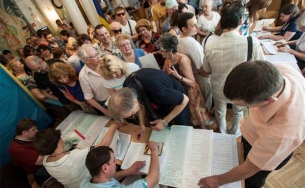 Явка избирателей в Тульской области составляет 21%