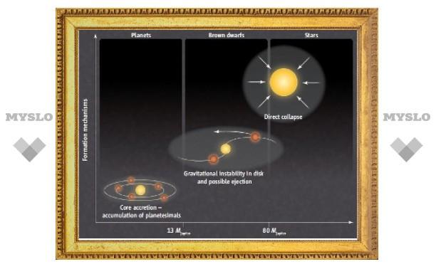 Астрономы рассмотрели рождение коричневого карлика