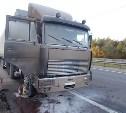 На трассе в Тульской области сгорел грузовик
