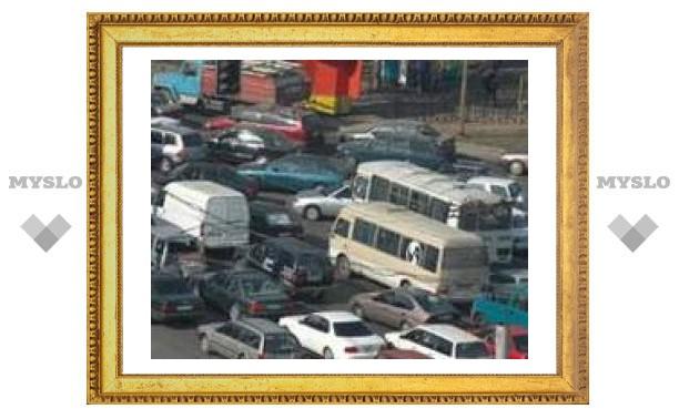 Тульский транспорт стоит в пробках