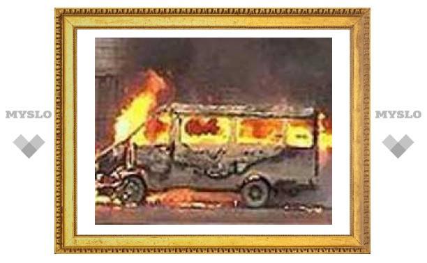 В Тульской области сгорела маршрутка