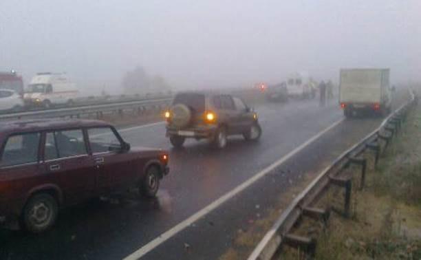 На трассе Тула-Новомосковск столкнулись восемь автомобилей