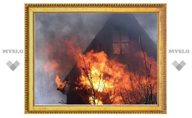 Под Тулой ночью сгорела дача