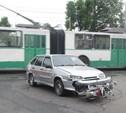 В Туле автомобиль из службы доставки суши сбил скутериста