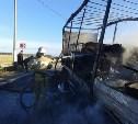 В Богородицком районе сгорел грузовик