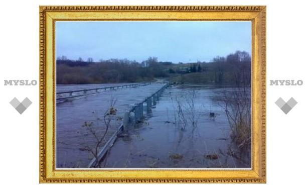 Мост в Белевской районе опять затопило