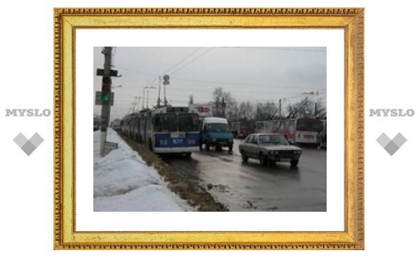 На проспекте Ленина большая пробка