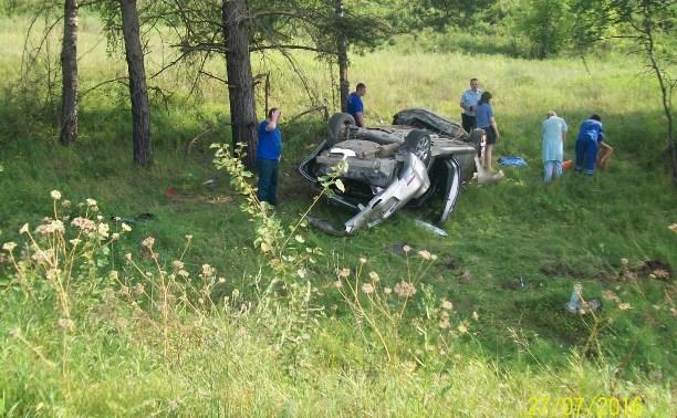В аварии с «перевёртышем» пострадали три пассажира