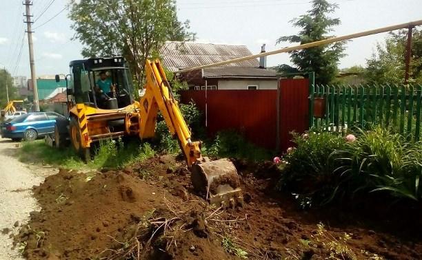 В Привокзальном округе Тулы выполняется ремонт тротуаров