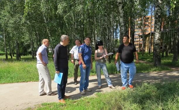 В администрации Тулы обсудили обустройство площадки для выгула собак в роще на ул. Калинина
