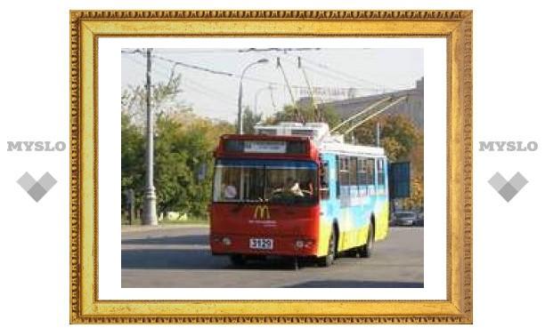В Туле сгорел троллейбус