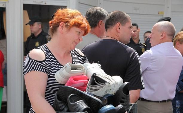 Приставы приступили к демонтажу торговых павильонов на ул. Фрунзе