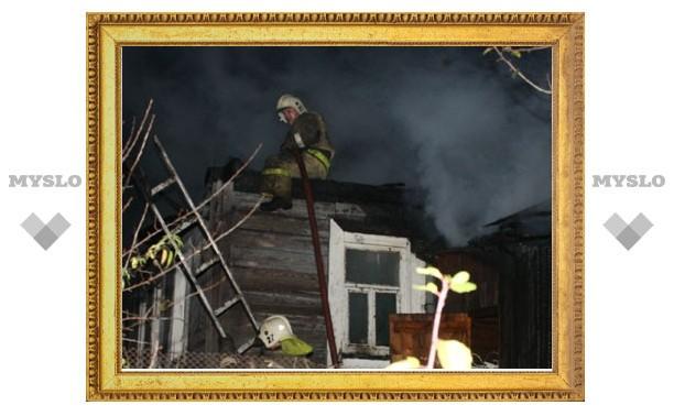 В Тульской области сгорел жилой дом