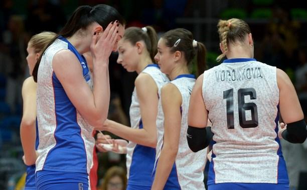 Сербки разгромили россиянок в 1/4 финала олимпийского турнира по волейболу