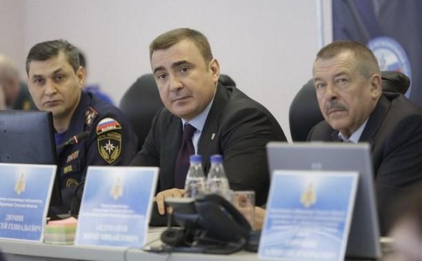 Алексей Дюмин посетил Главное управление МЧС России по Тульской области