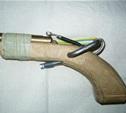 Тульский бомж сделал ружье из деревяшки, арматуры и изоленты