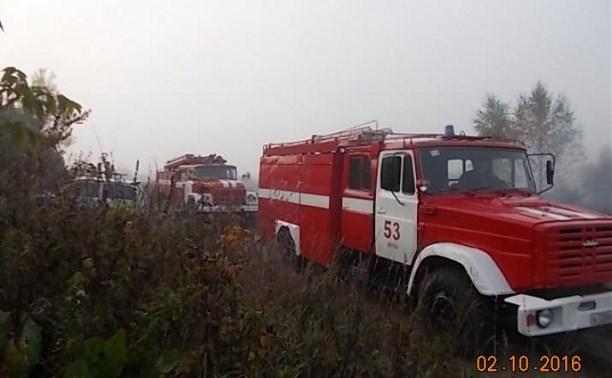 В Киреевском районе загоревшийся дом тушили три пожарных расчёта