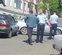 """На Косой Горе полицейский автомобиль столкнулся с """"гражданской"""" легковушкой"""