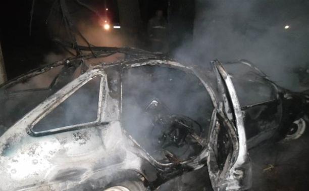 В Щекинском районе сгорел «Иж»