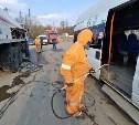 В Туле продолжают дезинфицировать общественный транспорт