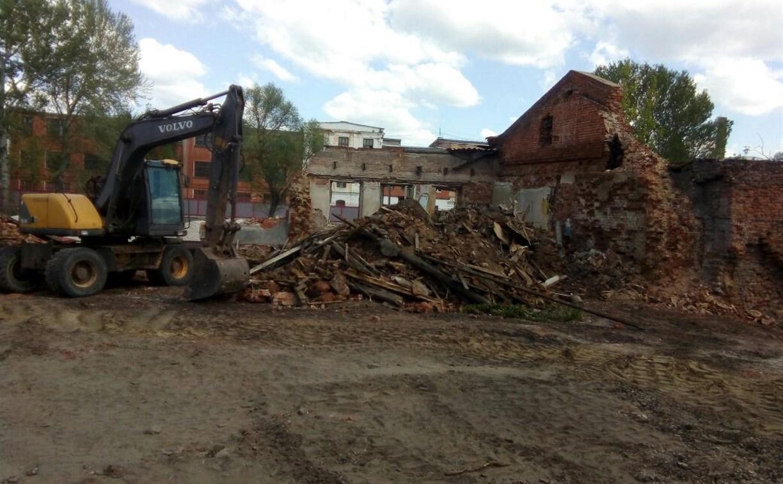 В Туле на улице Благовещенской сносят здание