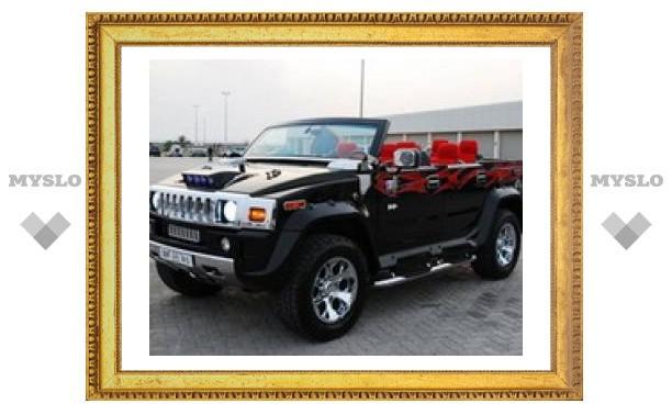 Hummer H2 в кузове кабриолет замечен в ОАЭ