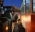 На Зеленстрое столкнулись трамвай и автобус