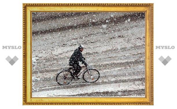 Снегопады в Туле продолжаются