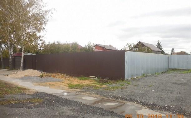 В Туле на ул. Чмутова собственники домов захватили 600 кв. м земли