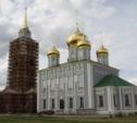 На колокольне Тульского кремля засверкал золотой шпиль