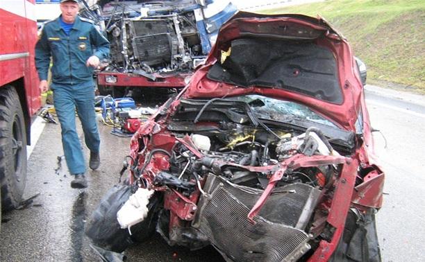 На трассе М4 «Дон» в кювет улетела «Тойота» под управлением беременной женщины