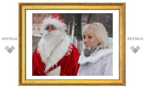 В Туле Дед Мороз украл милицейскую машину?