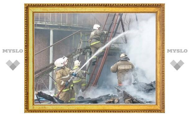 Тульским пожарным помогают добровольцы