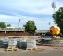 Центральный стадион «Арсенал» готовят к матчам Лиги Европы: репортаж