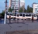 В Туле трамвай сошел с рельсов