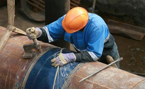 Пролетарский район Тулы остался без горячей воды из-за прорыва трубопровода