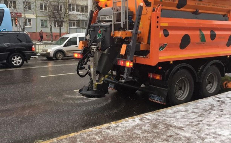 Сегодня тульские улицы чистят от снега около 80 единиц техники