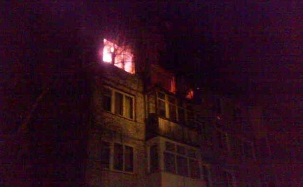 Ночью в Ясногорском районе загорелся жилой дом