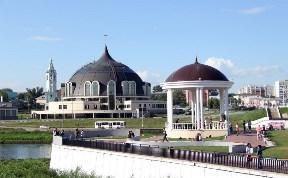 Ротонда у Зареченского моста через Упу