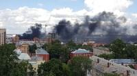 Загорелся недостроенный ТЦ на Красноармейском проспекте, Фото: 2