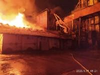 В Ясногорске загорелся склад для хранения зерна, Фото: 11