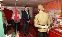 Учащиеся Волхонщинской средней школы показали Алексею Дюмину школьный музей боевой славы, Фото: 17